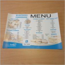 Menu Design & Printing