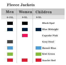 Fleece Jackets Colours