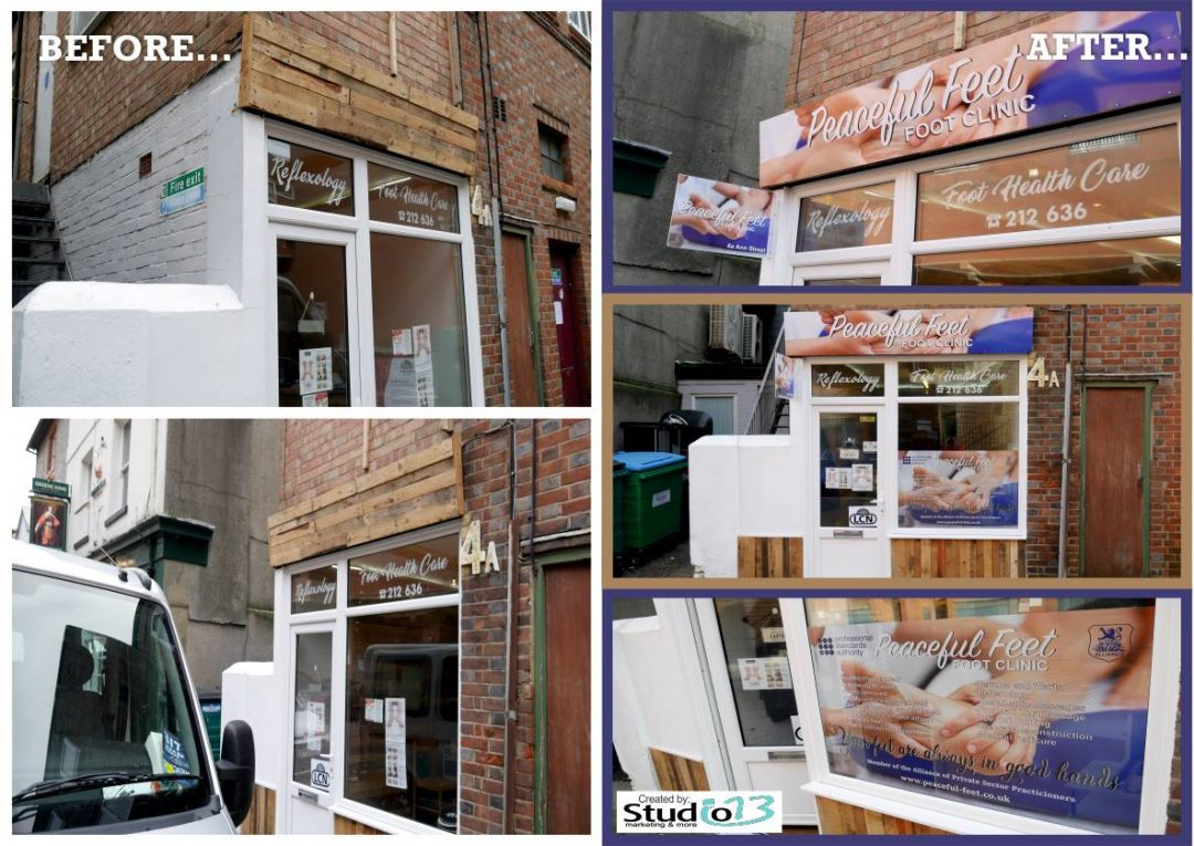 Foot Clinic New Shop Front Design