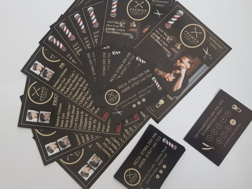 Premier Barber East Preston New Loyalty Cards and Flyers