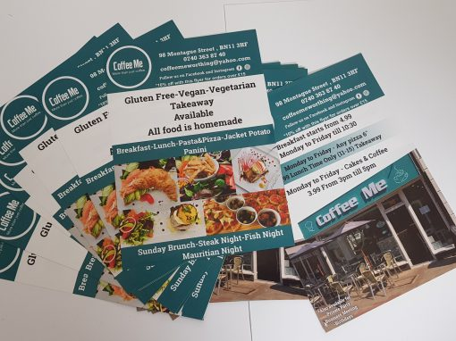 Coffee Me Restaurant Worthing Flyers